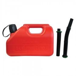 Туба за бензин пластмасова 5л +2бр накрайници