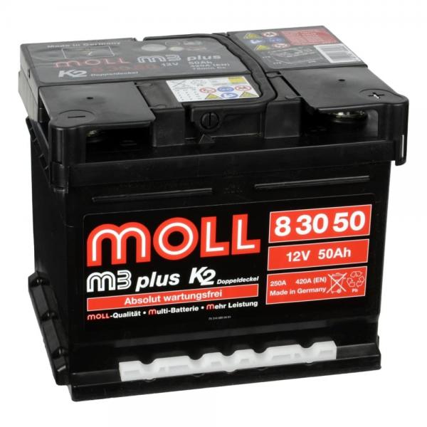 Акумулатор MOLL M3 Plus K2 12V 50AH
