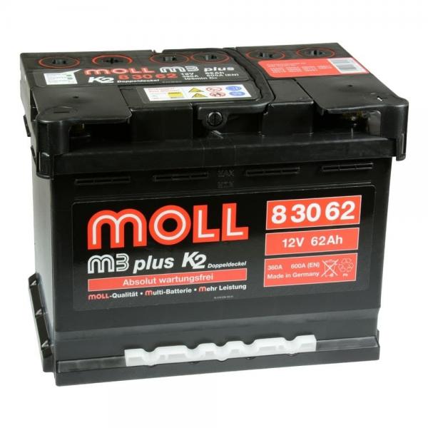 Акумулатор MOLL M3 Plus K2 12V 62AH