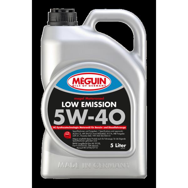 MEGUIN LOW EMISSION SAE 5W40-5L